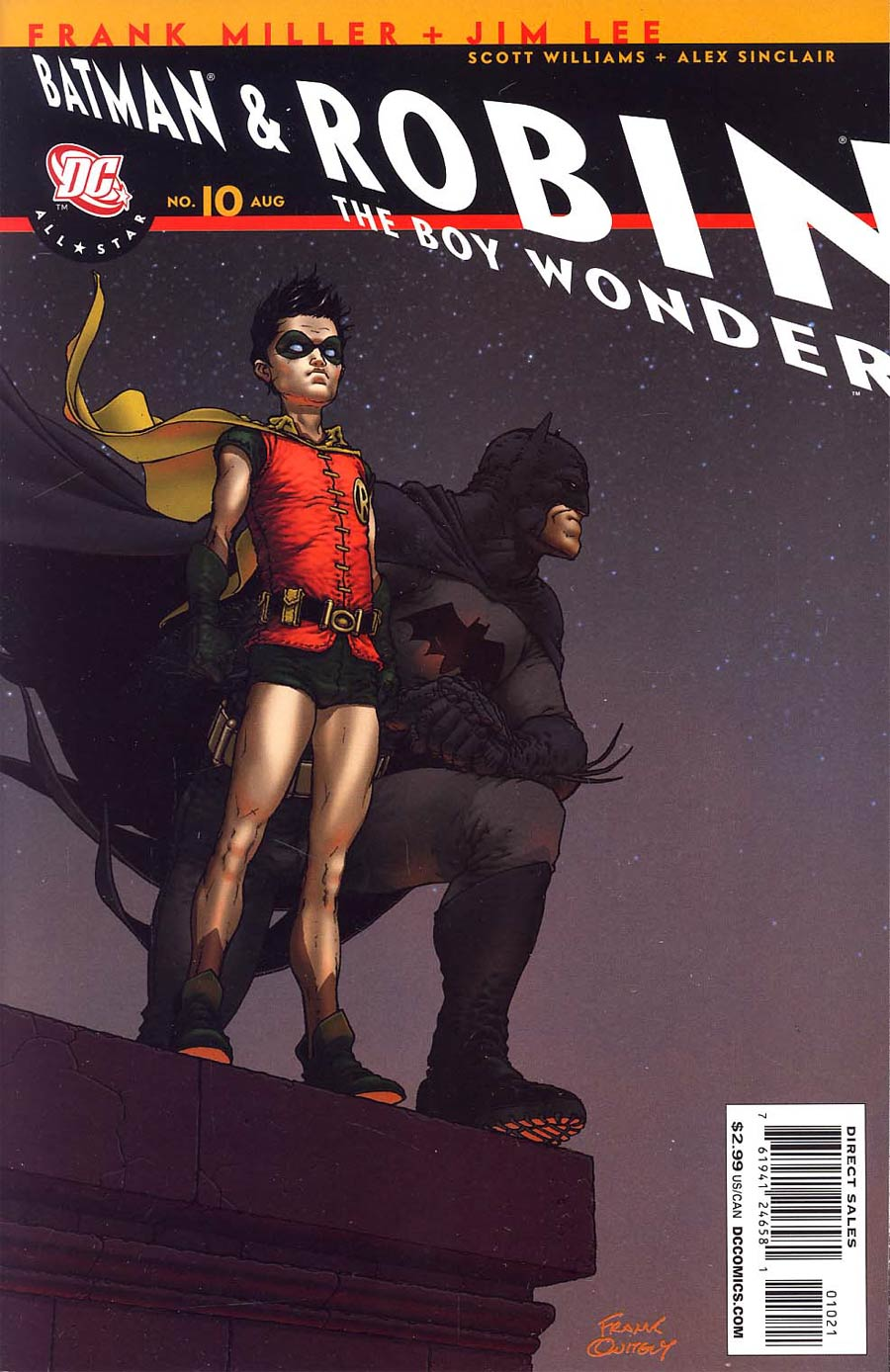 All Star Batman And Robin The Boy Wonder #10 Incentive Frank Quitely Variant Recall edition
