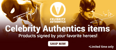 Celebrity Authentics items. Products signed by your favorite heroes! Shop Now. *limited time only