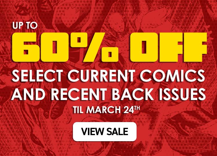 20% off all Marvel back issues.  Online only, 'til August 20