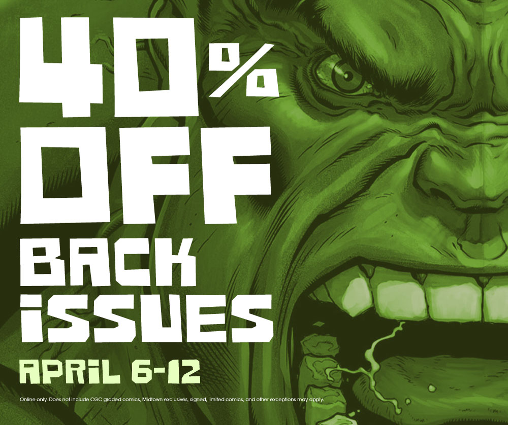 40% off back issues!