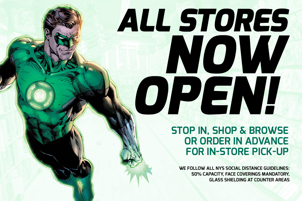 All NYC stores now open!