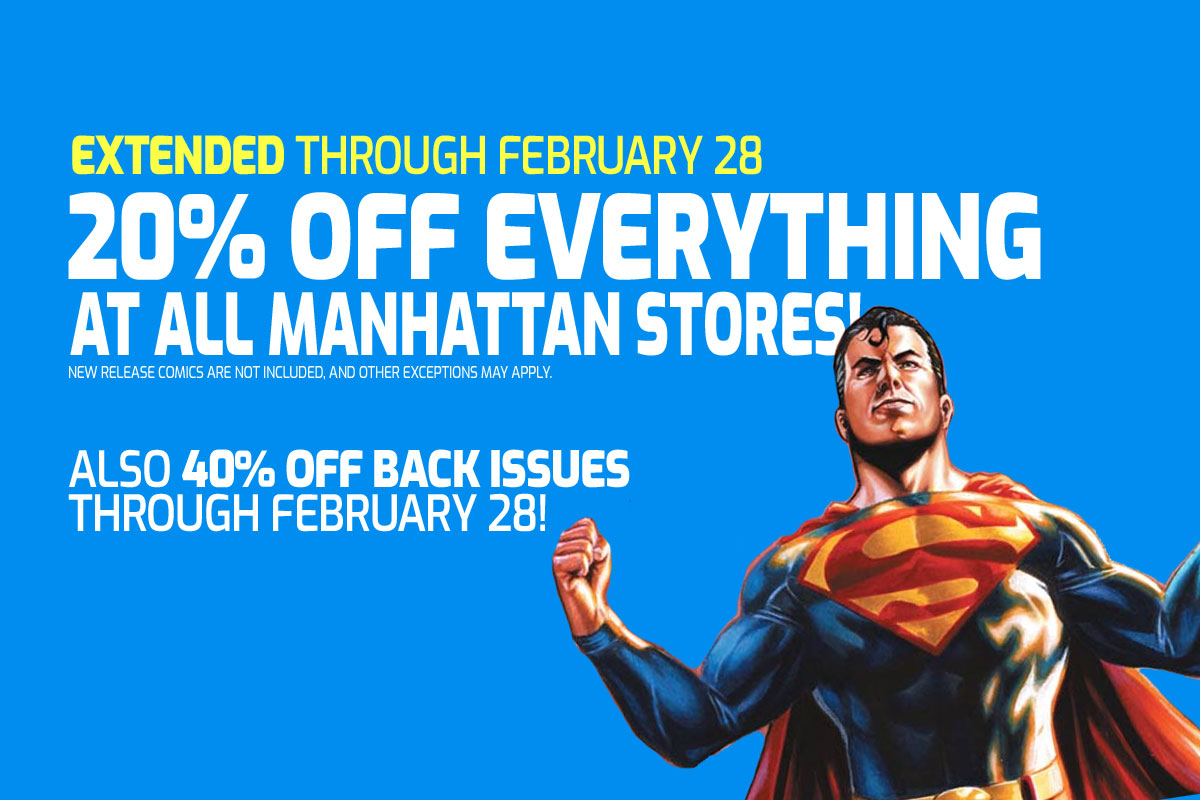20% off everything at all Manhattan stores