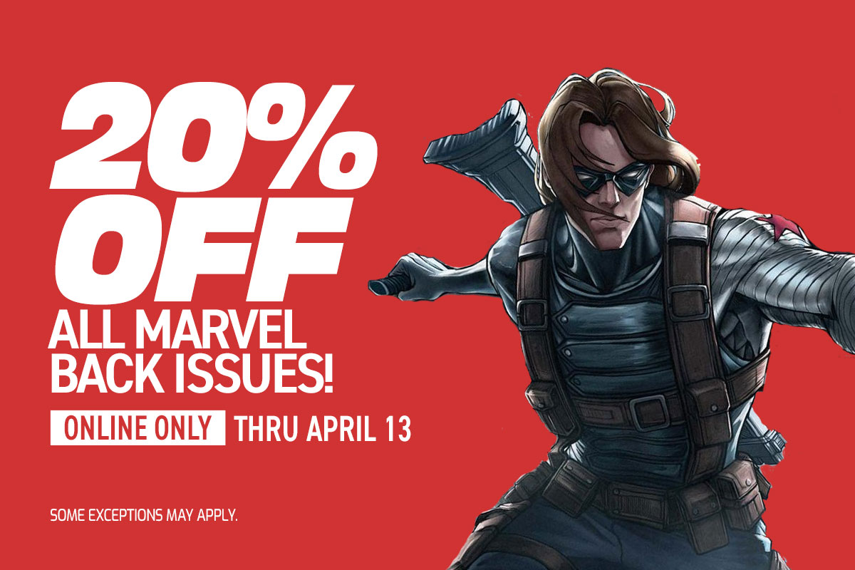 20% off Marvel back issues!