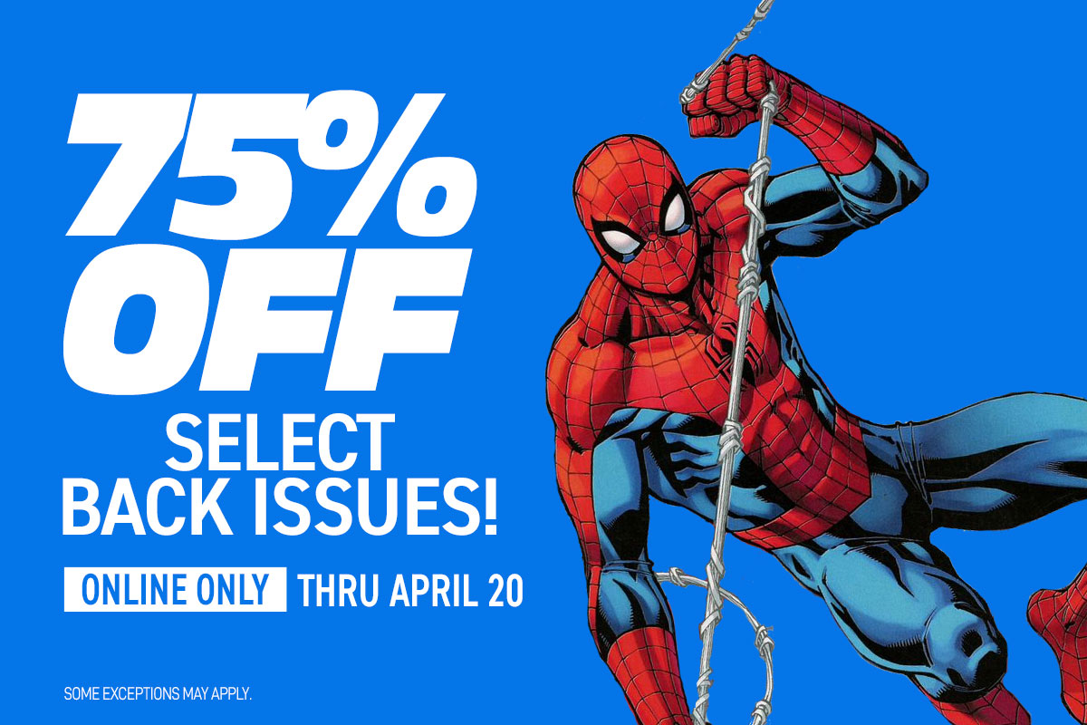75% off select back issues