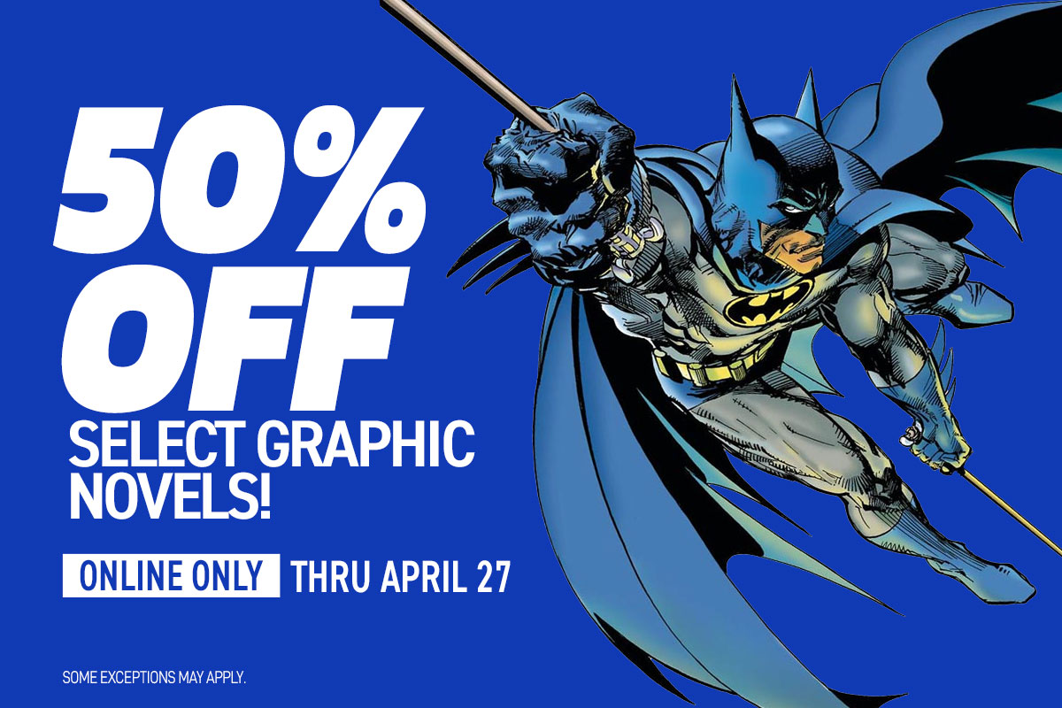 50% off select graphic novels