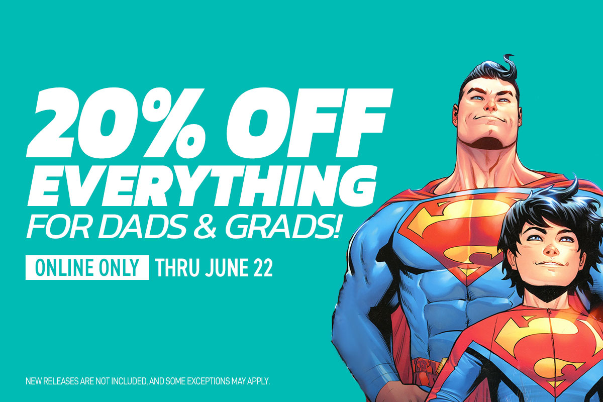 20% off everything for Dads & Grads
