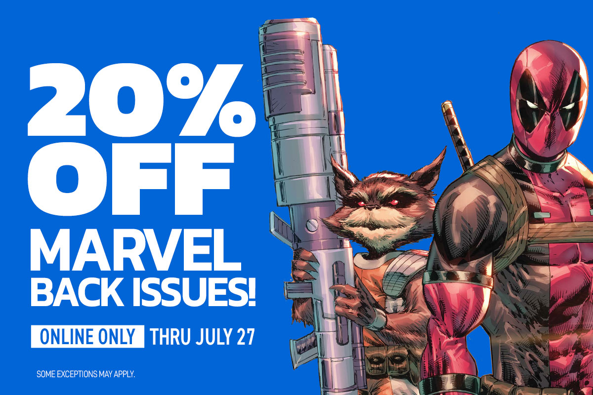 20% off select Marvel back issues