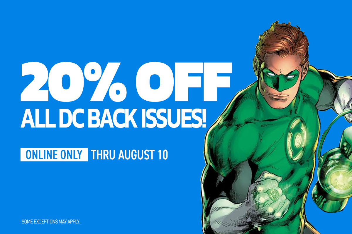 20% off DC Back issues