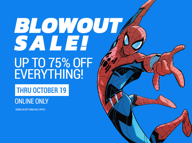 Blowout Sale! Up to 75% off everything