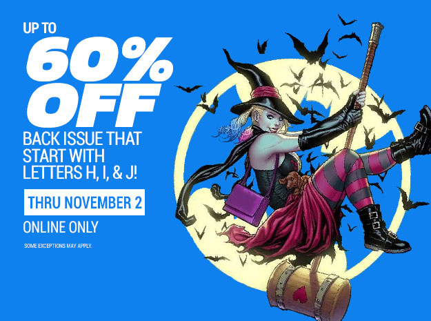 Up to 60% off select back issues
