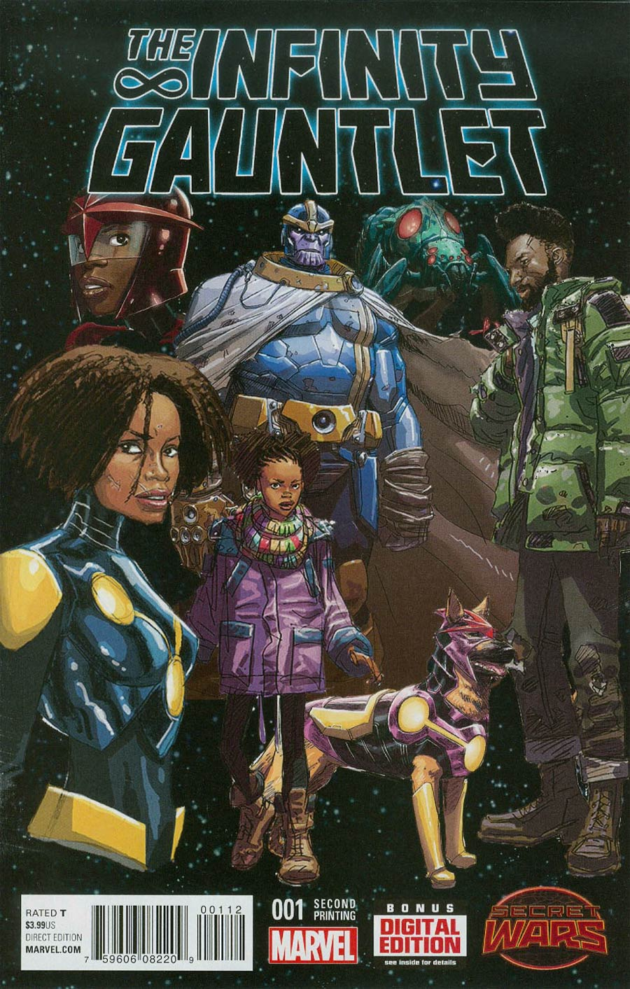 Infinity Gauntlet Vol 2 #1 Cover F 2nd Ptg Dustin Weaver Variant Cover (Secret Wars Warzones Tie-In)